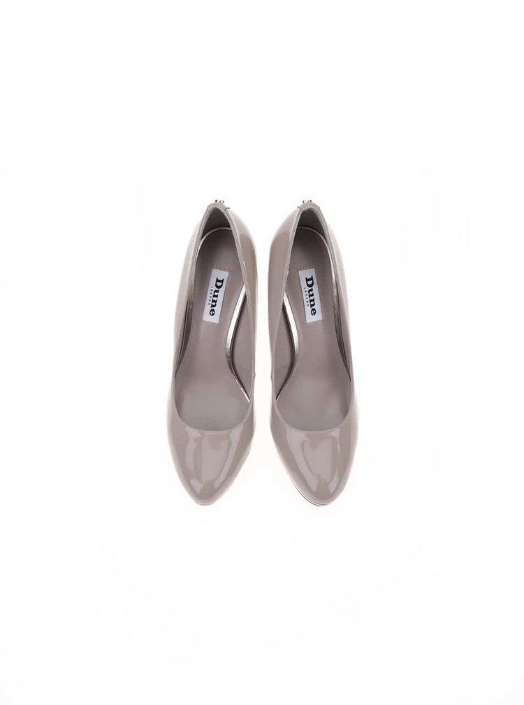 Pantofi cu toc bej-gri Dune London Amber