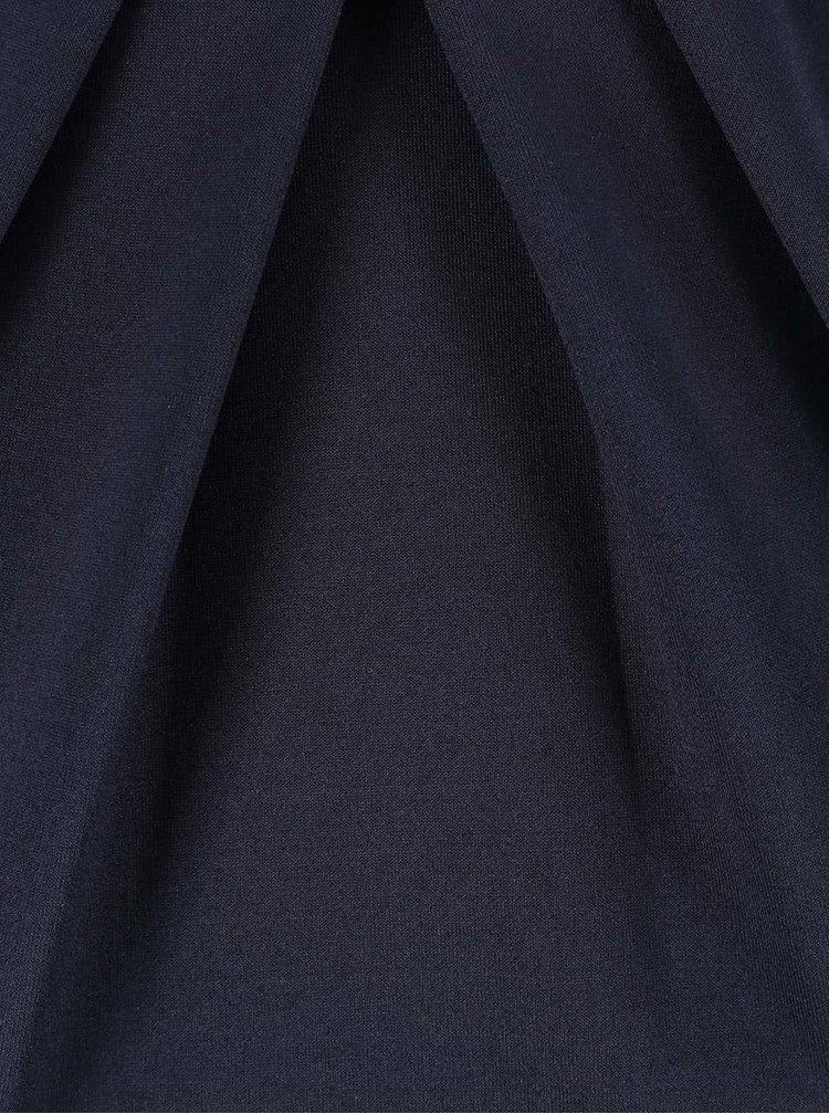 Tmavě modré pouzdrové šaty s řasením u výstřihu Goddiva