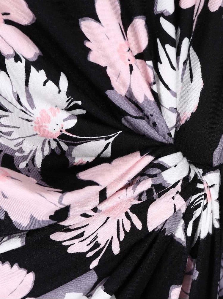 Černé šaty s barevnými květy Dorothy Perkins