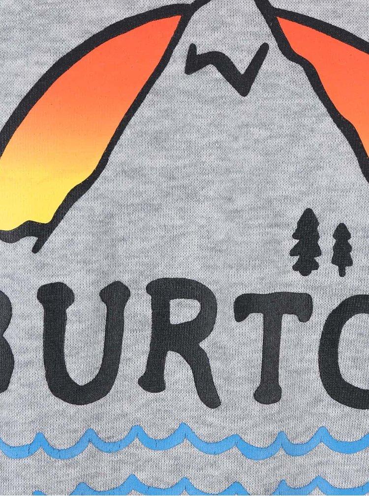 Bluză bărbătească gri închis Burton Panorama Crew