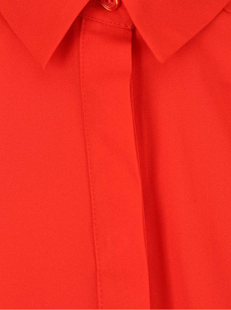 Červená halenka s knoflíky Dorothy Perkins