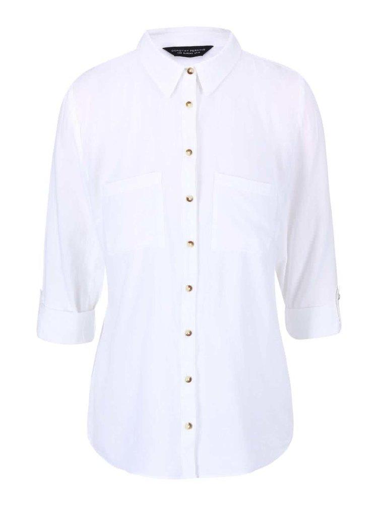 Biela bavlnená košeľa Dorothy Perkins