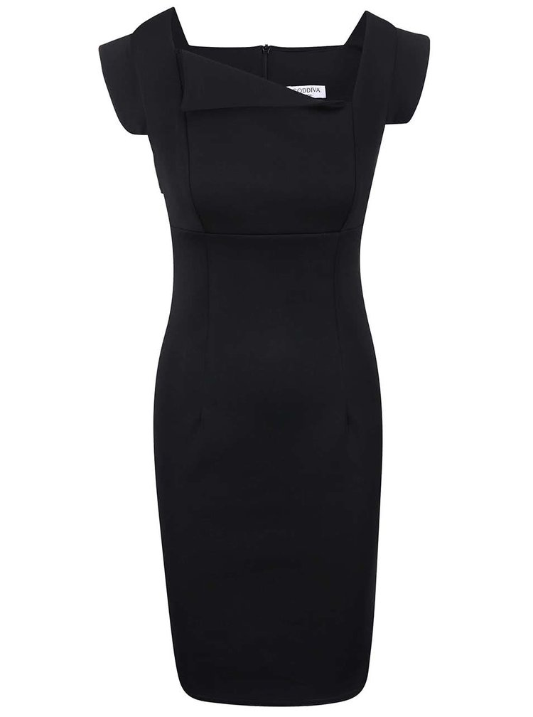 Černé pouzdrové šaty Goddiva