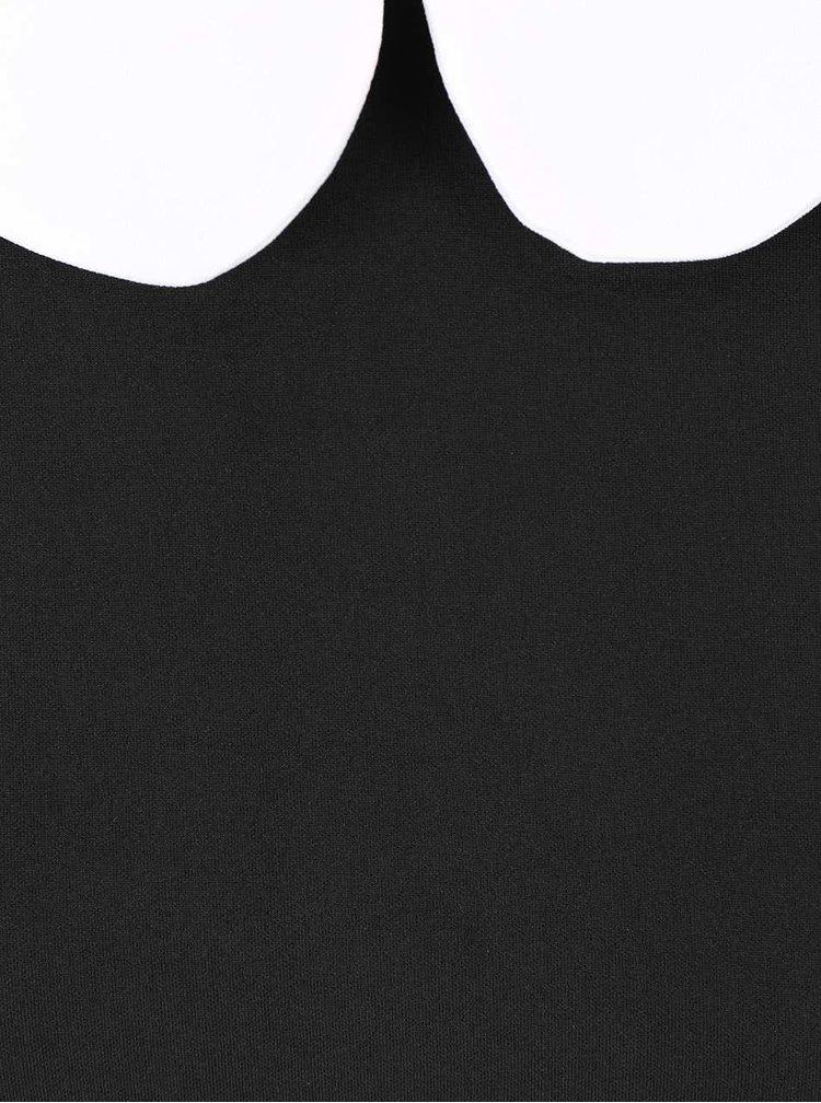 Čierne šaty s bielym golierikom Goddiva