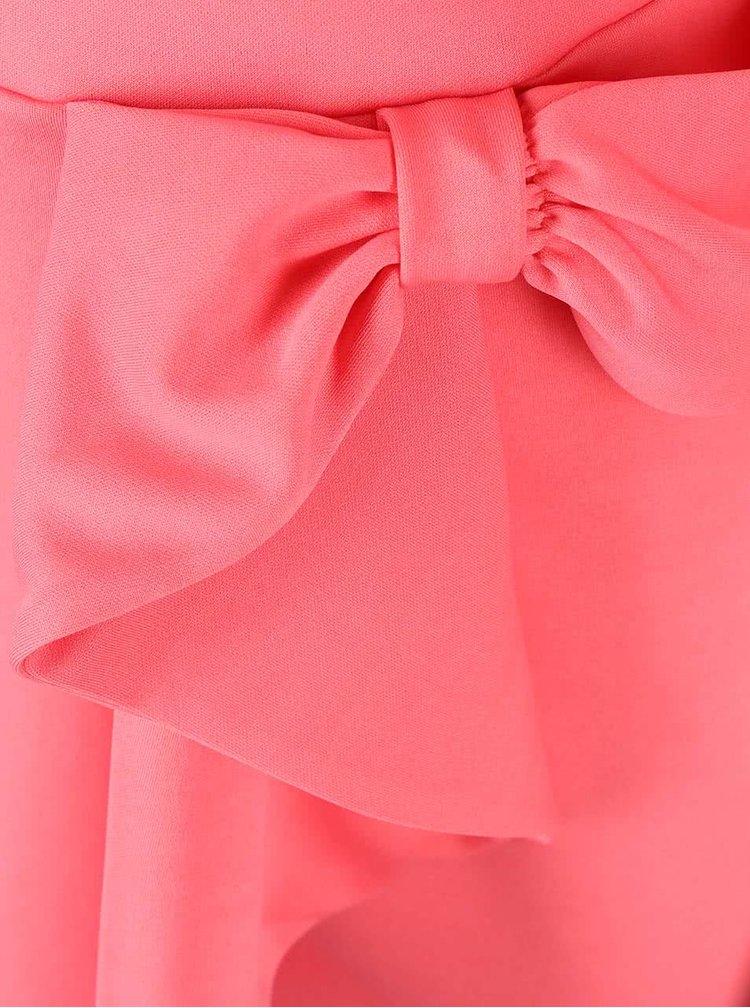 Rochie corai cu fundă decorativă Goddiva