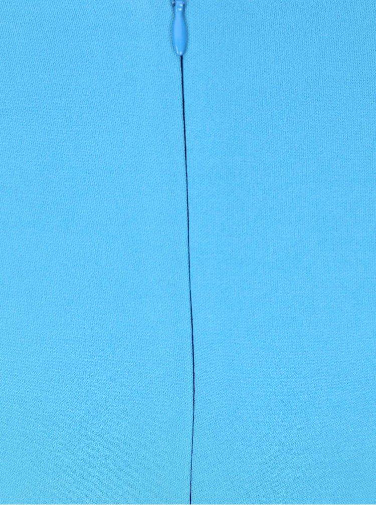 Modré šaty s ozdobnou mašlí Goddiva