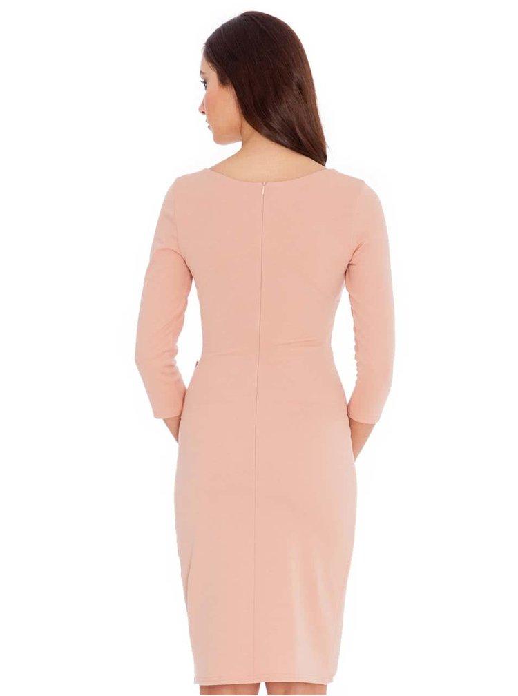 Rochie roz deschis cu fundă decorativă Goddiva