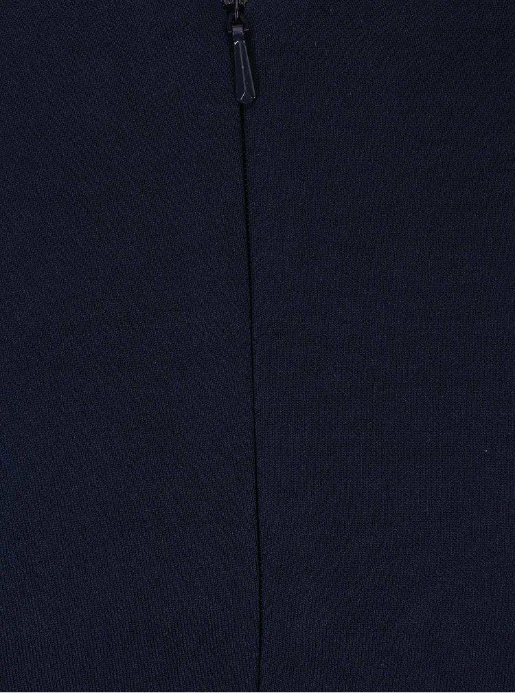 Rochie bleumarin cu fundă decorativă Goddiva