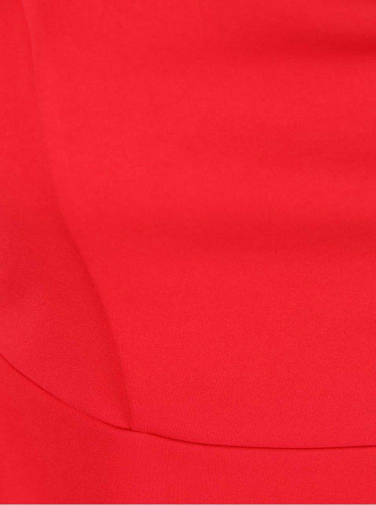 Červené šaty s nariaseným výstrihom Goddiva