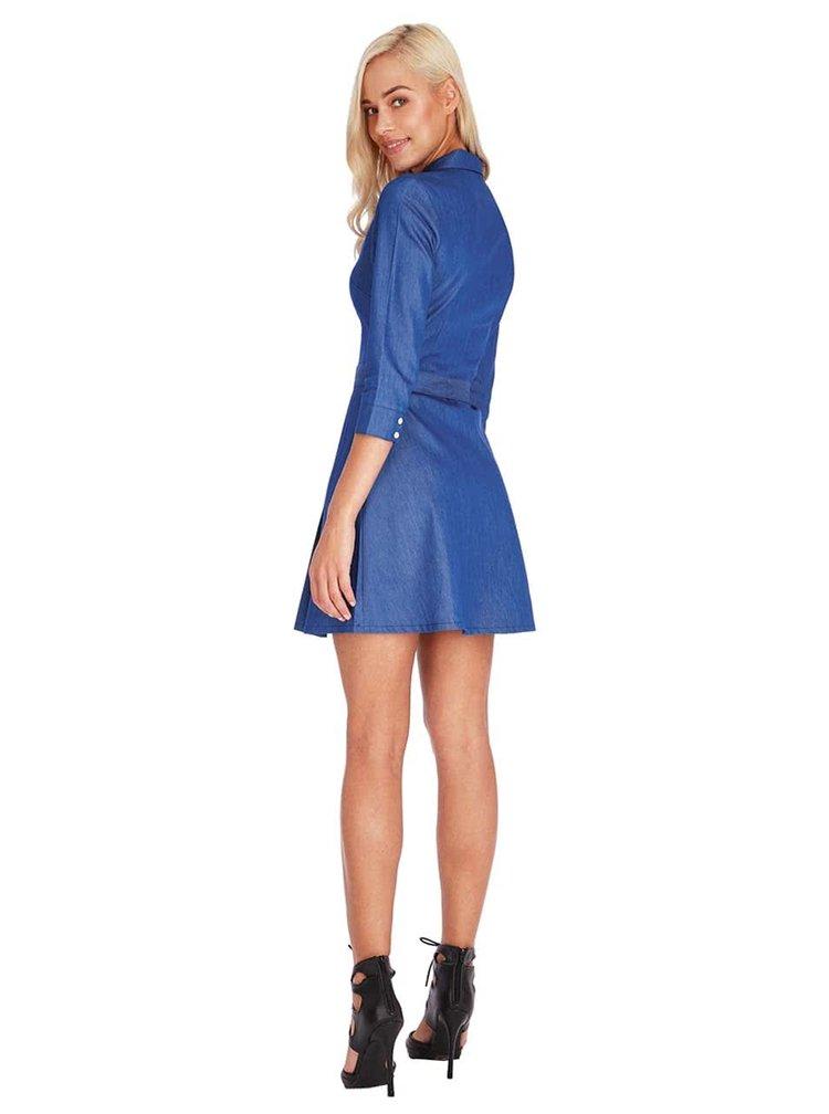 Modré denimové šaty Goddiva