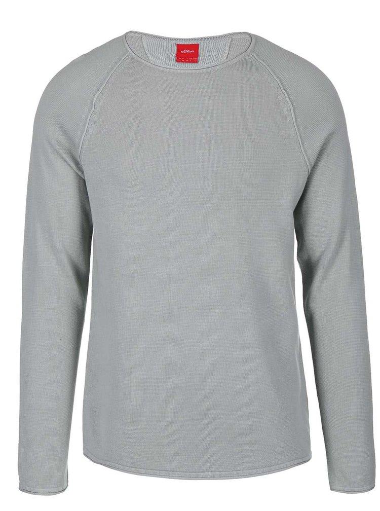 Sivý pánsky tenký sveter s.Oliver