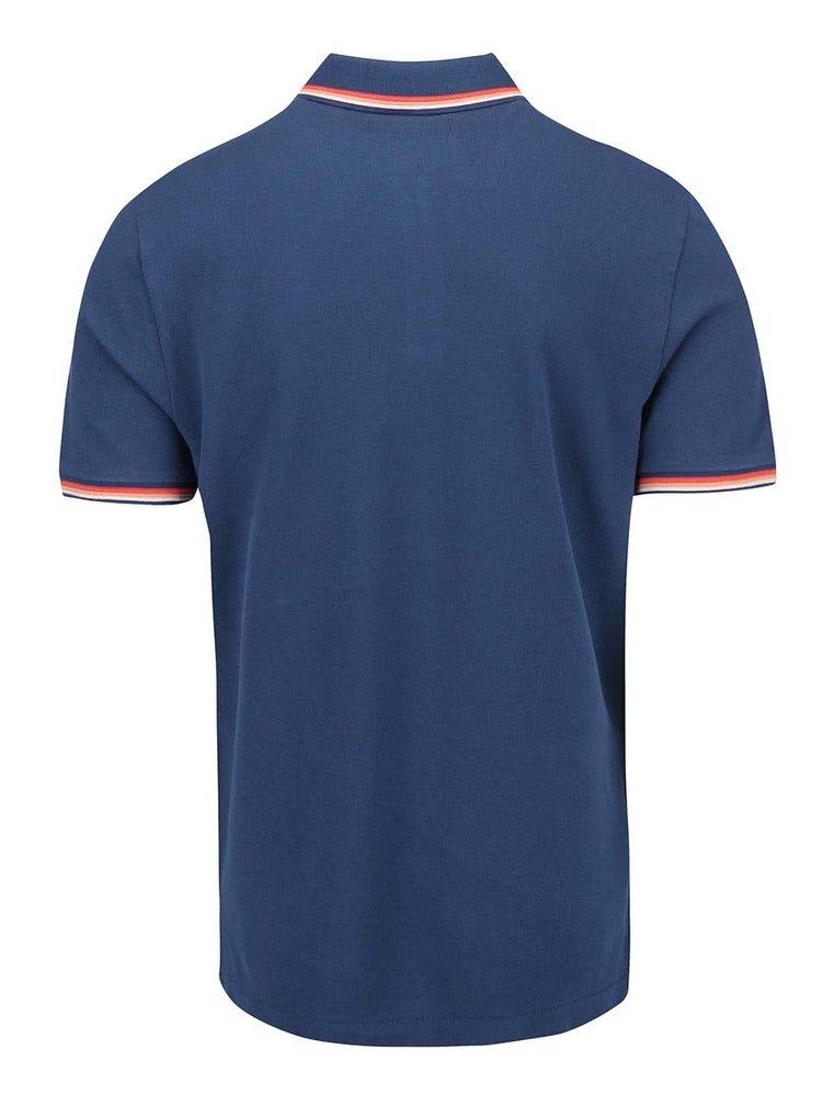 Tmavě modré polo triko s batevnými lemy Original Penguin Volley