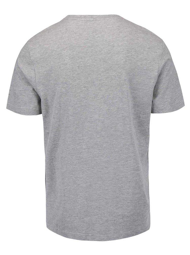 Šedé triko s potiskem Original Penguin Logo Tee