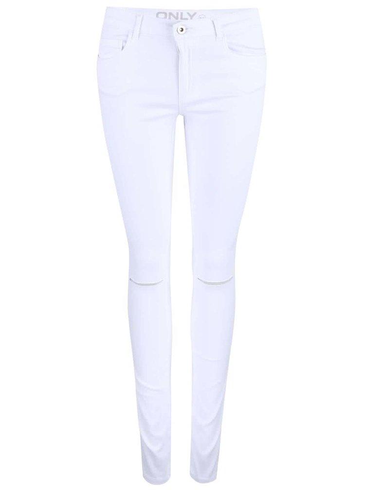 Bílé džíny s dírami v kolenou ONLY Royal