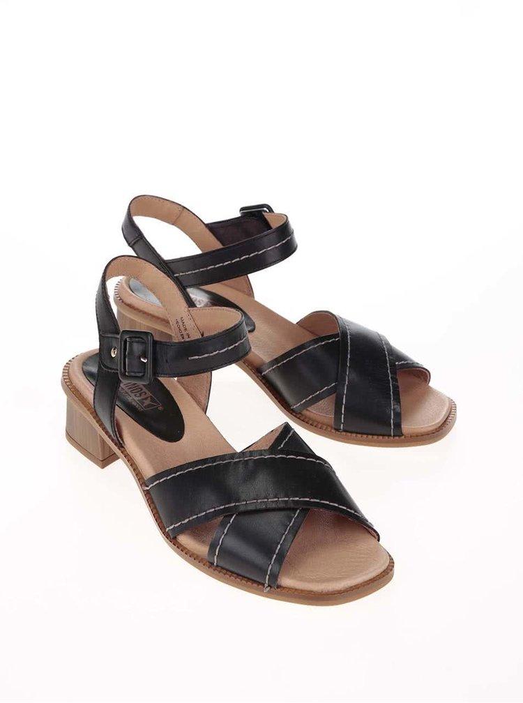 Černé kožené sandálky Pikolinos Polinesia