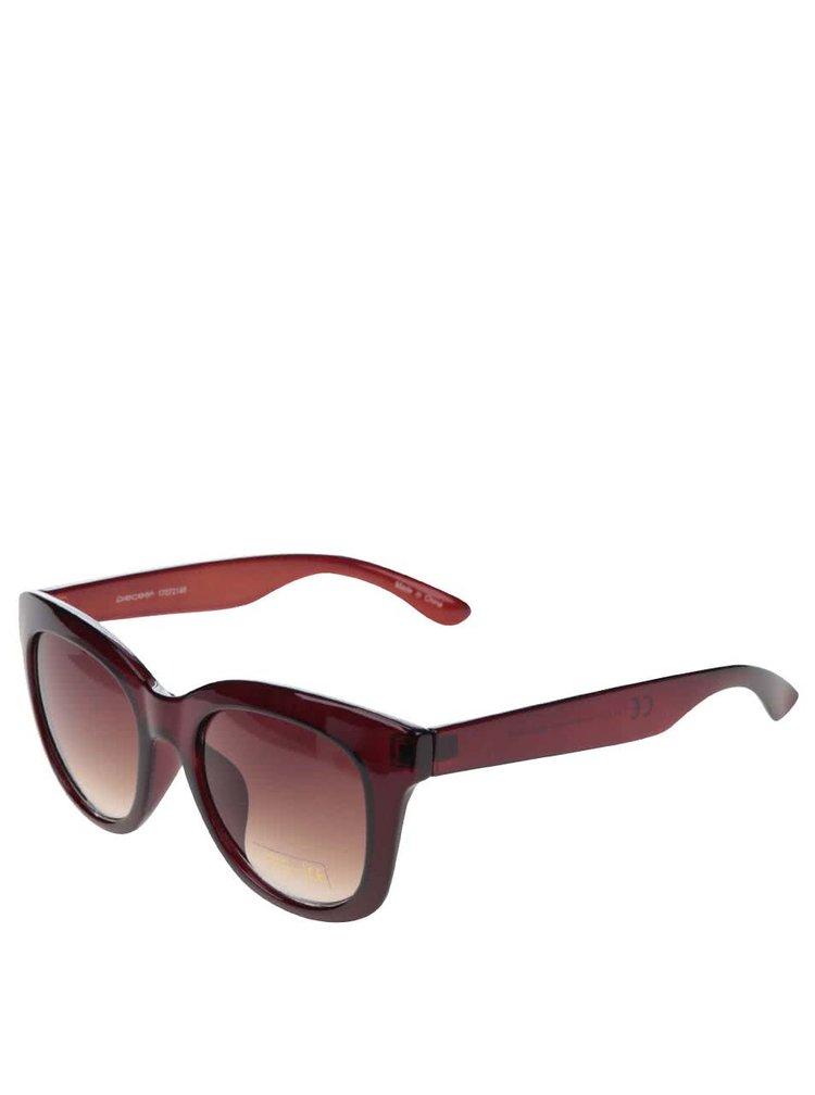 Hnědé sluneční brýle Pieces Tana