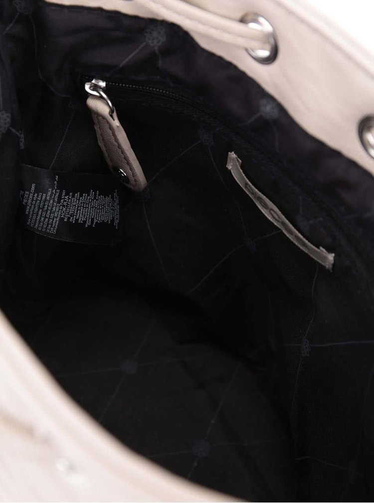Krémová sťahovacia kabelka Pieces Tessa