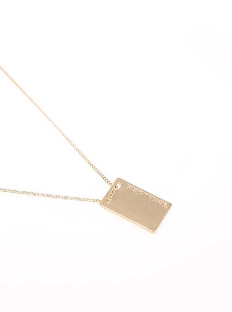 Colier auriu cu pandant Pieces Tag