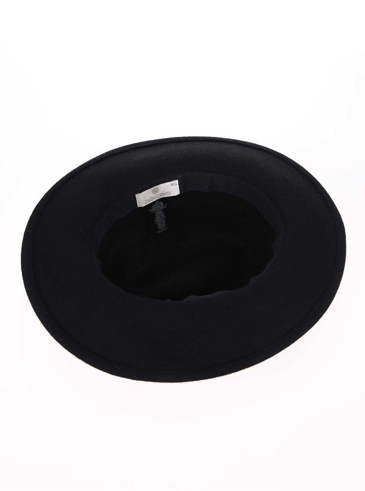 Čierny vlnený klobúk Pieces Tul