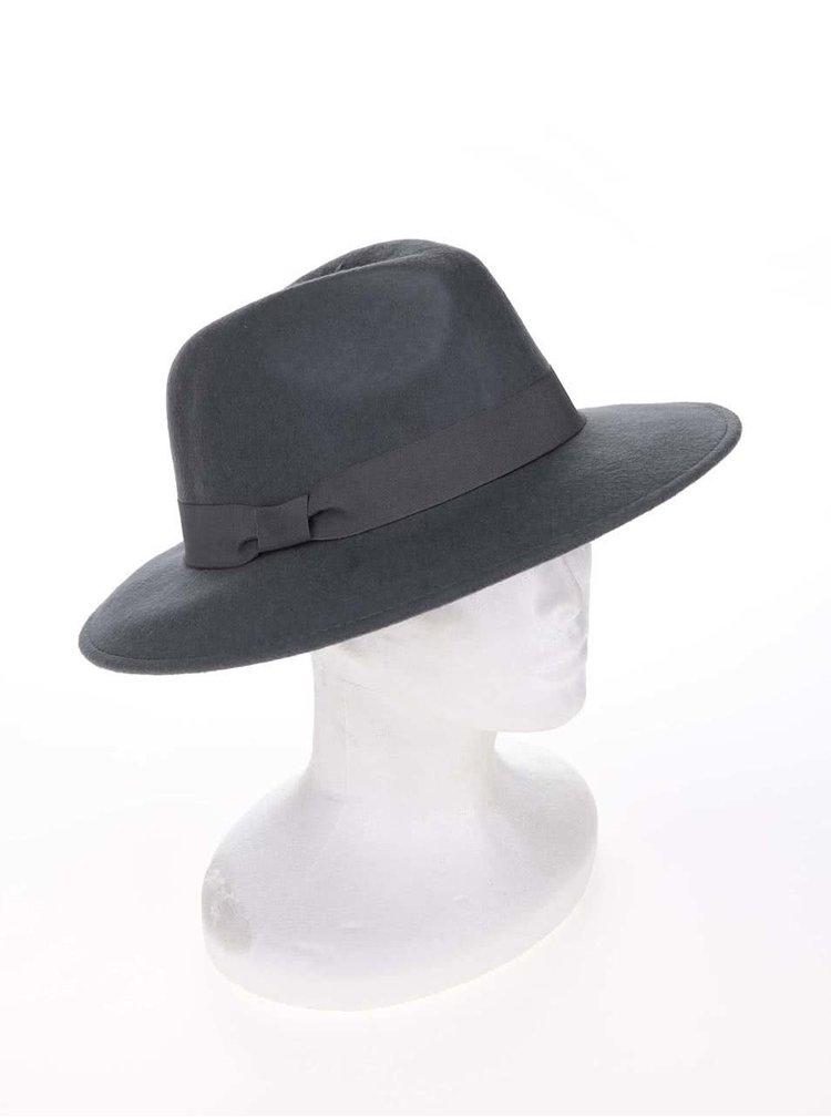 Sivý vlnený klobúk Pieces Tul