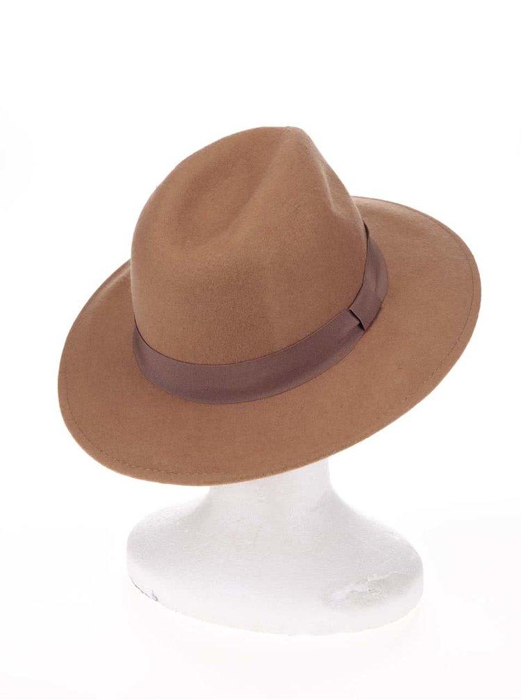 Pălărie din lână maro Pieces Tul