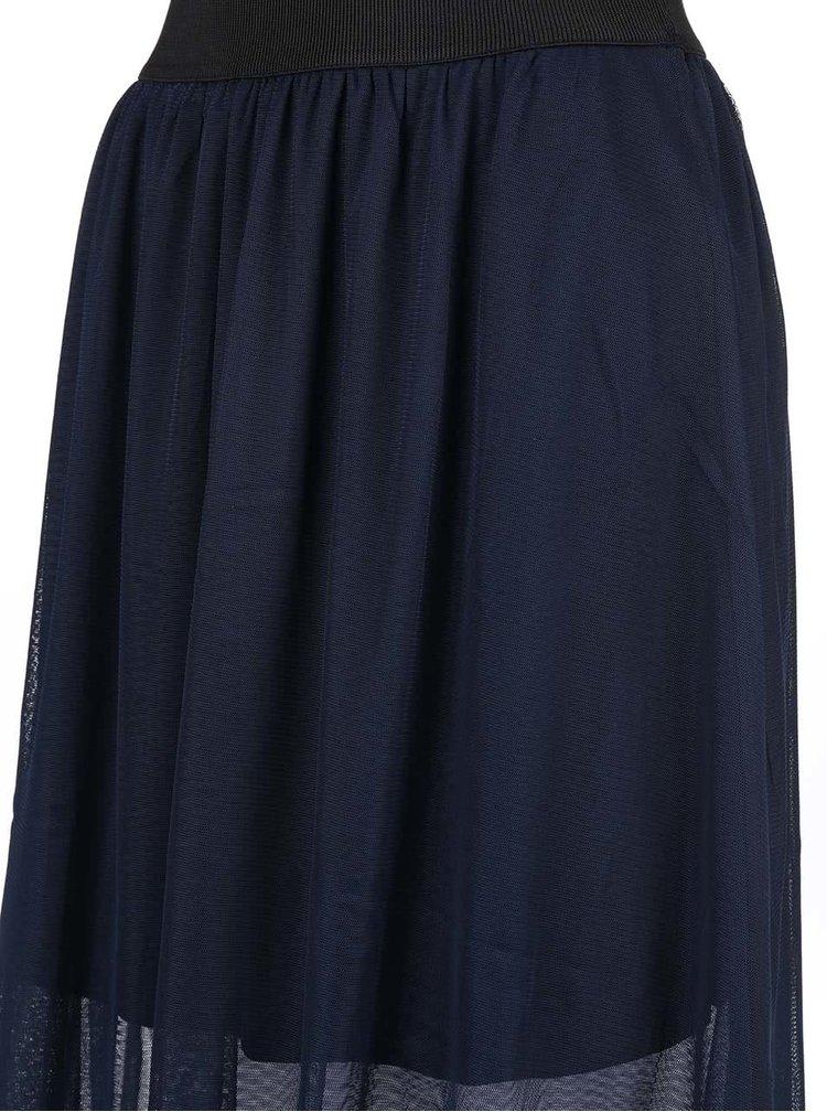 Tmavomodrá šifónová sukňa VERO MODA Mesha