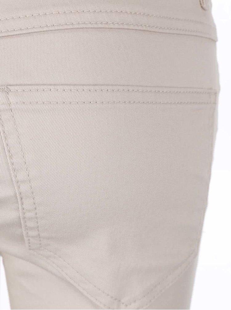Blugi slim fit cu rupturi în genunchi VILA Commit - alb