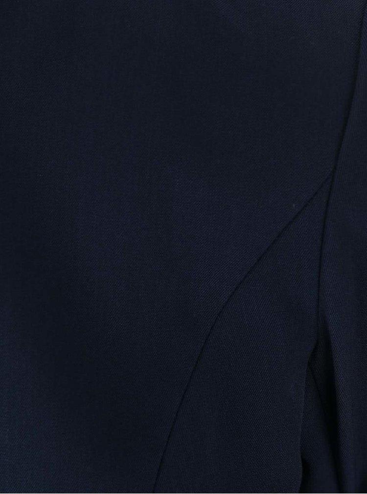 Blazer bleumarin VILA Her cu mâneci trei sferturi