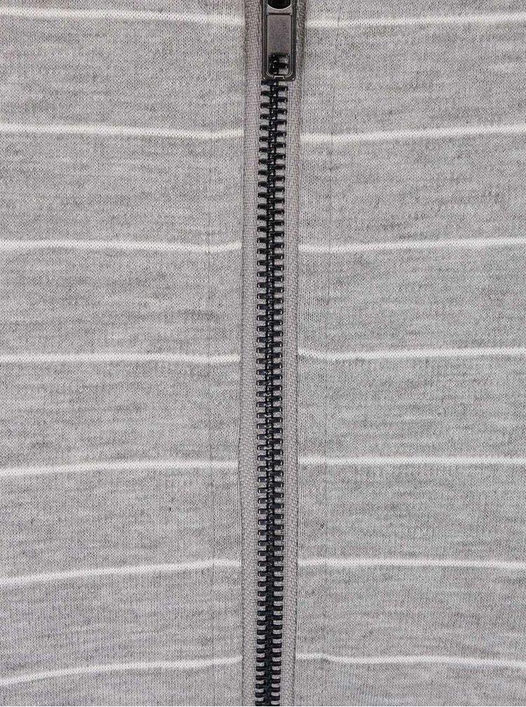 Sivé pruhované šaty VILA Tinny
