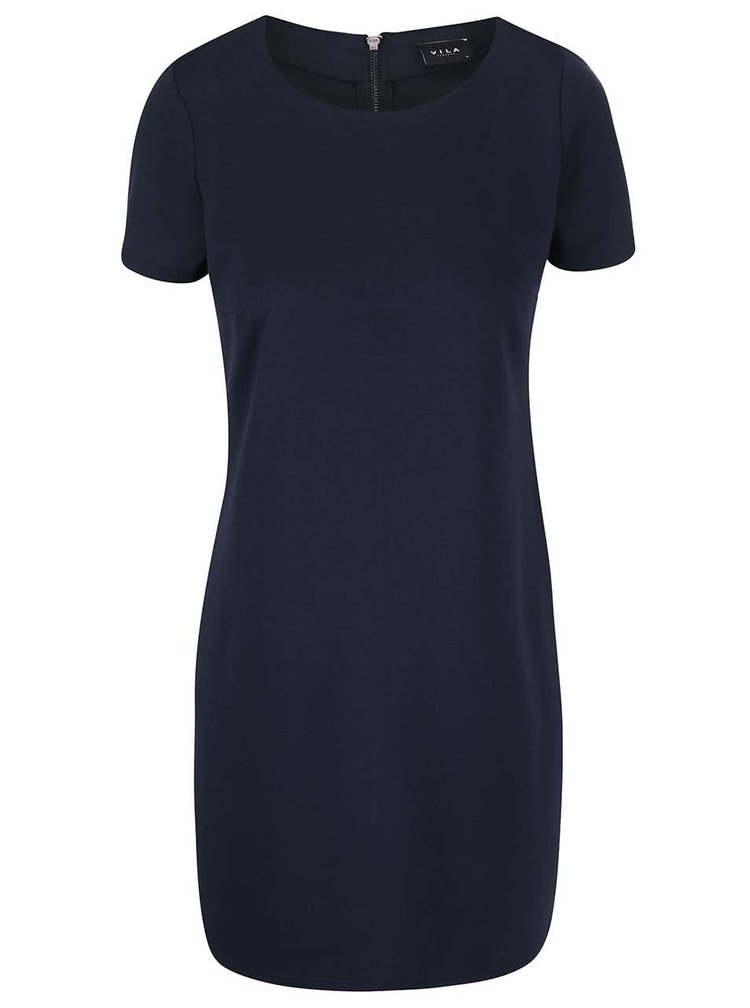 Tmavomodré šaty VILA Tinny