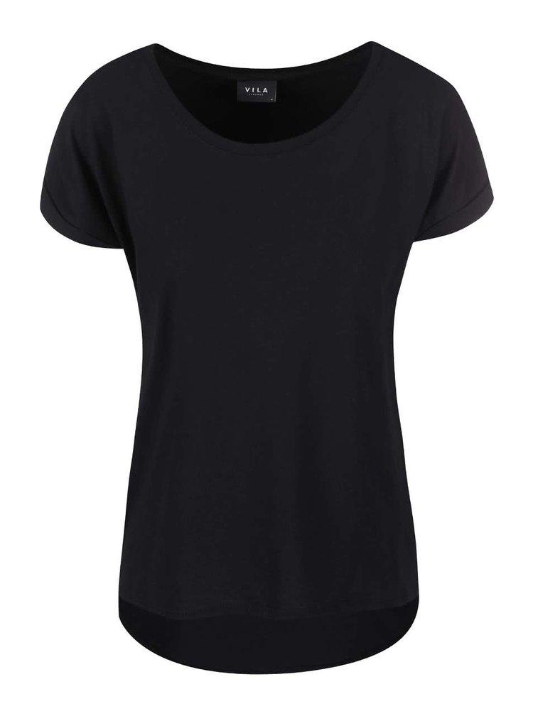 Černé oversized tričko VILA Dreamers