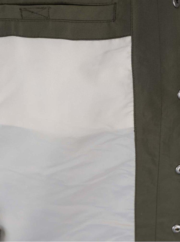 Tmavě zelená lehčí bunda Jack & Jones Long