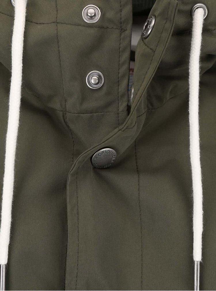 Tmavozelená ľahšia bunda Jack & Jones Long