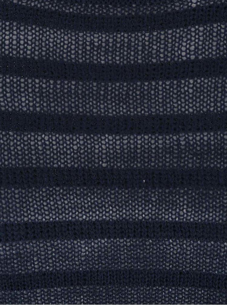 Tmavě modrý pruhovaný svetr Jack & Jones Kingston