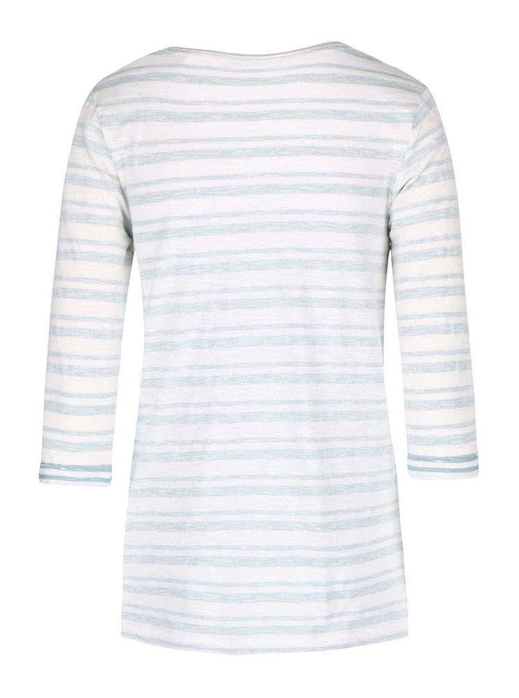 Zeleno-biele pruhované tričko s.Oliver