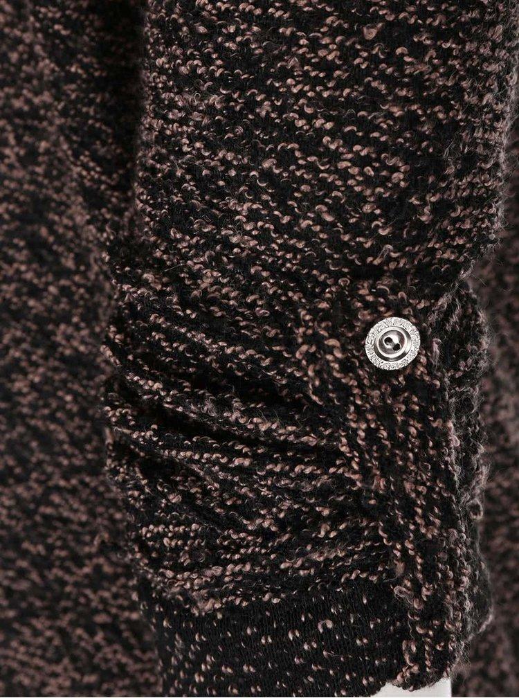 Růžovo-černý svetr Madonna Anka