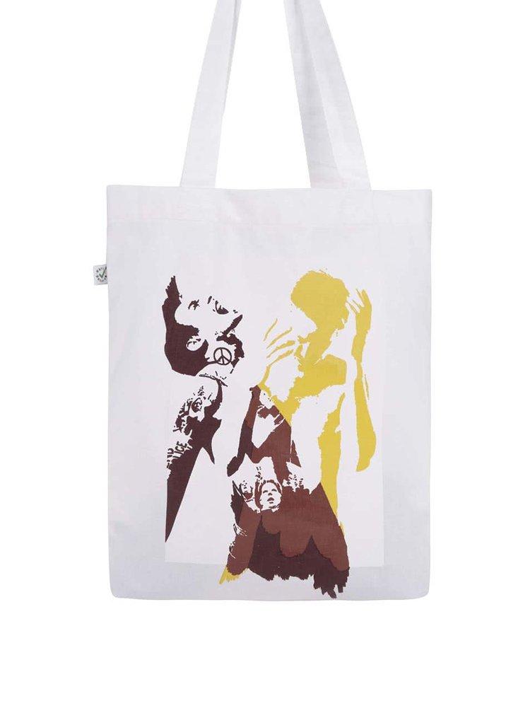 Bílá plátěná taška Bernstein Mše