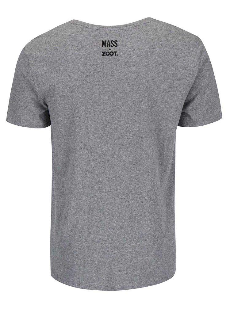 Šedé pánské triko Bernstein Mše