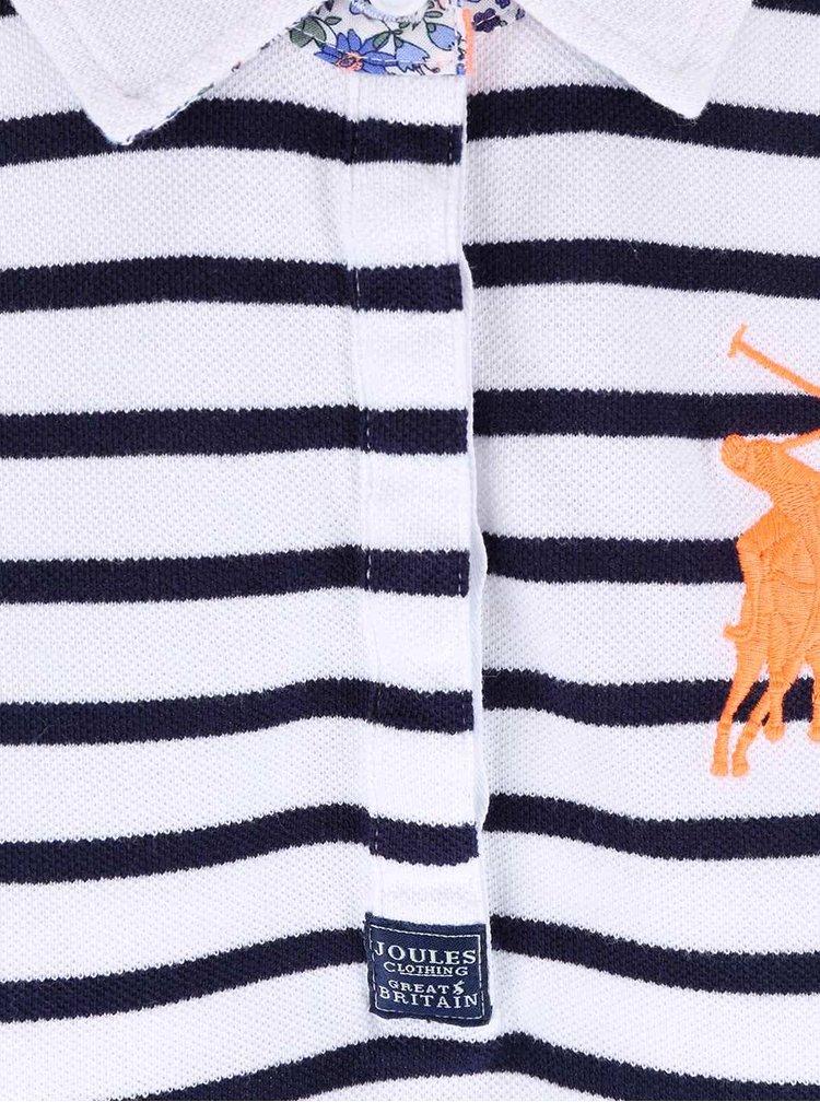 Tricou polo de damă cu dungi albastre și albe Tom Joule Philippa