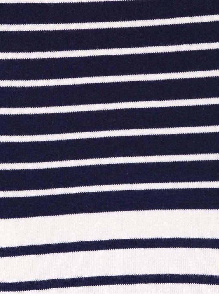 Bluză de damă cu mânecă lungă și dungi albastre cu alb Tom Joule Harbour