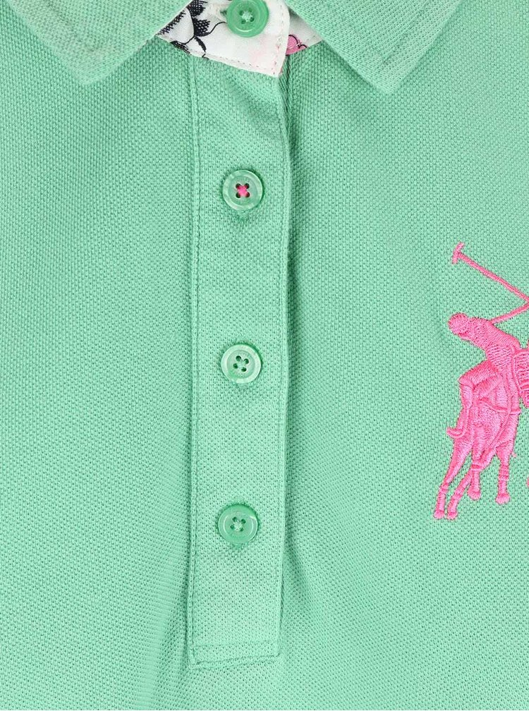 Mentolové dámské polo tričko Tom Joule Beaufort