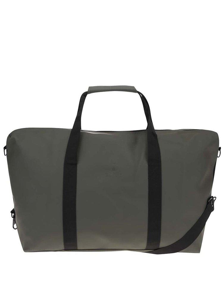Tmavě zelená cestovní taška RAINS