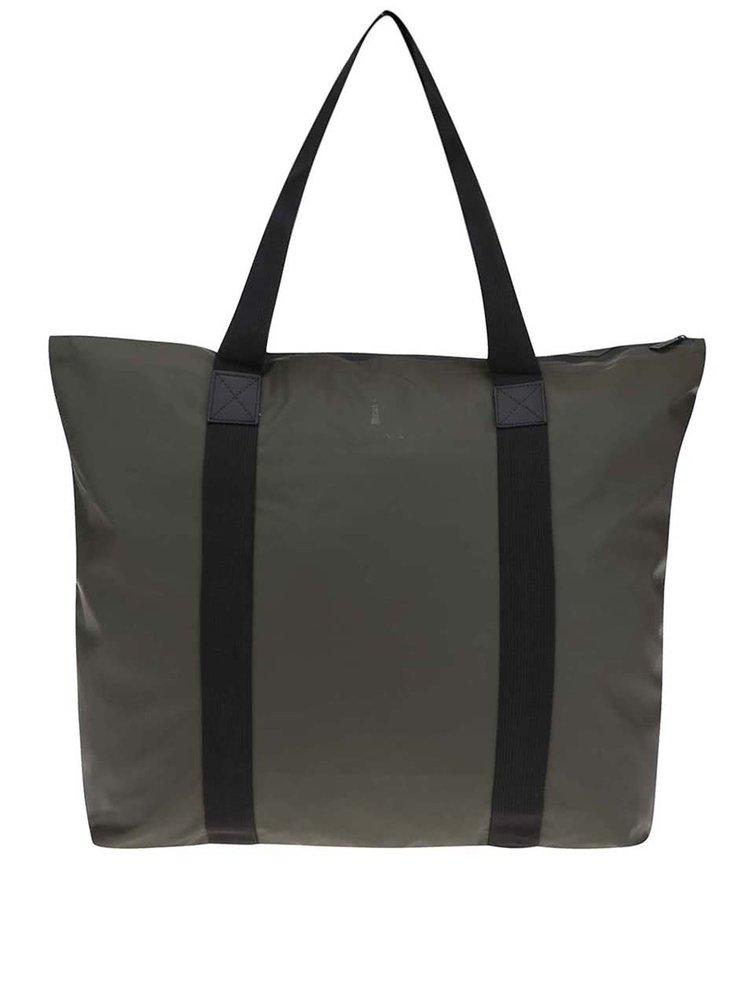 Tmavě zelená cestovní taška s delšími uchy RAINS