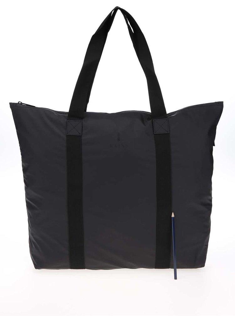 Čierna cestovná taška s dlhšími uchami RAINS