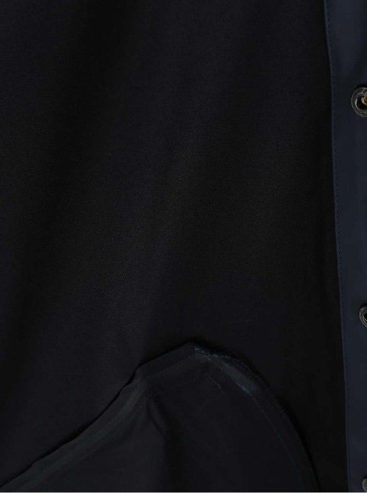 Tmavě modrá pánská pláštěnka RAINS