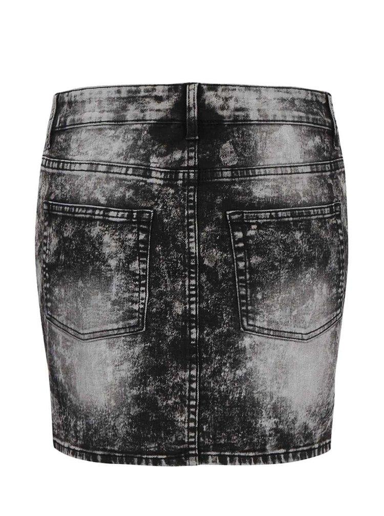 Čierno-sivá rifľová sukňa s vypraným efektom Cheap Monday Spray