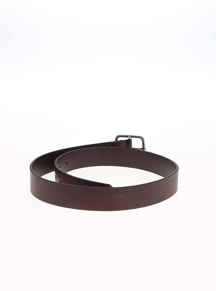 Hnědý kožený pásek ONLY & SONS Carlsten