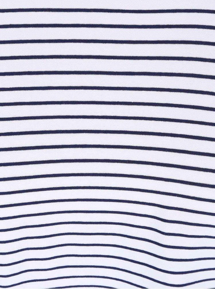 Bílý pruhovaný asymetrický top Haily´s Jenna