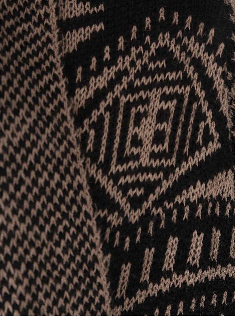 Černo-béžový vzorovaný kadrigan Madonna Drancy