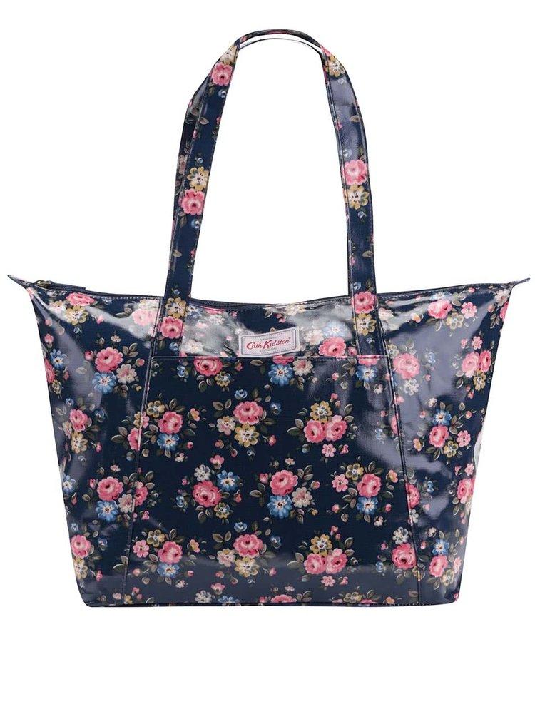 Tmavomodrý kvetinový shopper Cath Kidston